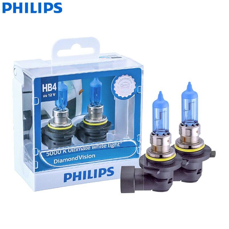 Twin Pack of Bulbs Philips Diamond Vision 5000K H3 Car Headlight Bulbs