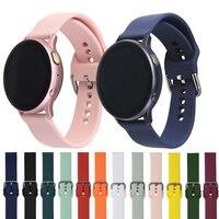 Cinturino in Silicone 20mm 22mm per Samsung Galaxy Watch 3 Active 2 Huawei GT 2E GT2 GT2E Pro Amazfit Pace BIP 46mm braccialetto sportivo