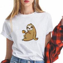 Новое поступление Женская Весенняя Повседневная футболка забавная