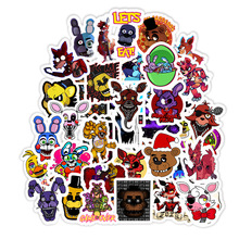 50Pcs/lot Five Nights At Freddy Decal Sticker for Car Laptop Bicycle Notebook Backpack Waterproof Stickers Toy Stickers Gifts