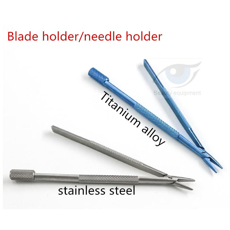 Ophthalmology Microsurgery Blade Holder Ophthalmology Cosmetic Surgery Tool Fixed Blade Clip Cosmetic Plastic Surgery