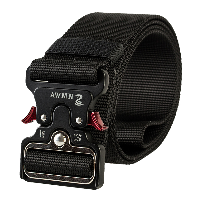 4.8CM Width Men Belt Nylon Tactical Army Belt For Trousers Metal Buckle Canvas Belts Outdoor Training Black Military Waist Belt