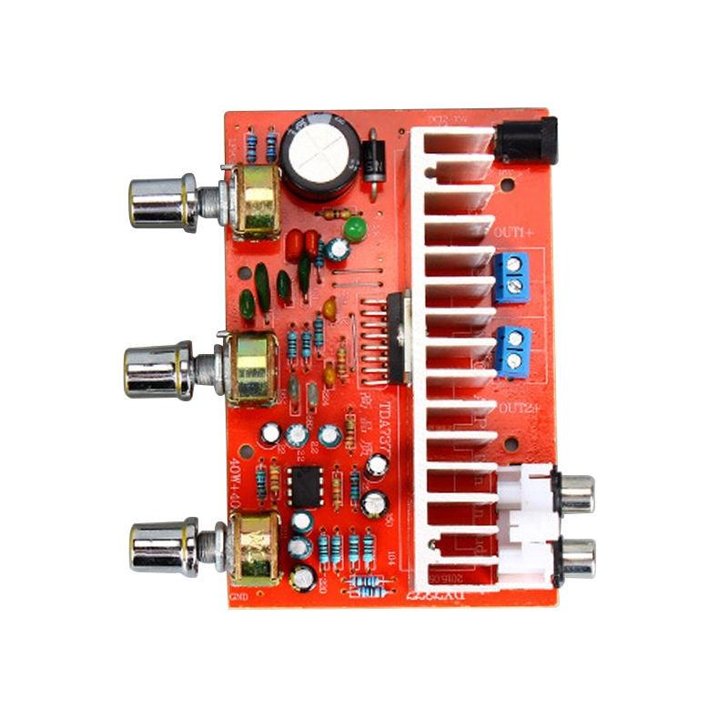 IG 12V Tda7377 Audio Amplifier Board 40W+40W 2.0 Channel Stereo Amplificador For 3 6 Inch Bookshelf Speaker Diy|Operational Amplifier Chips| |  - title=