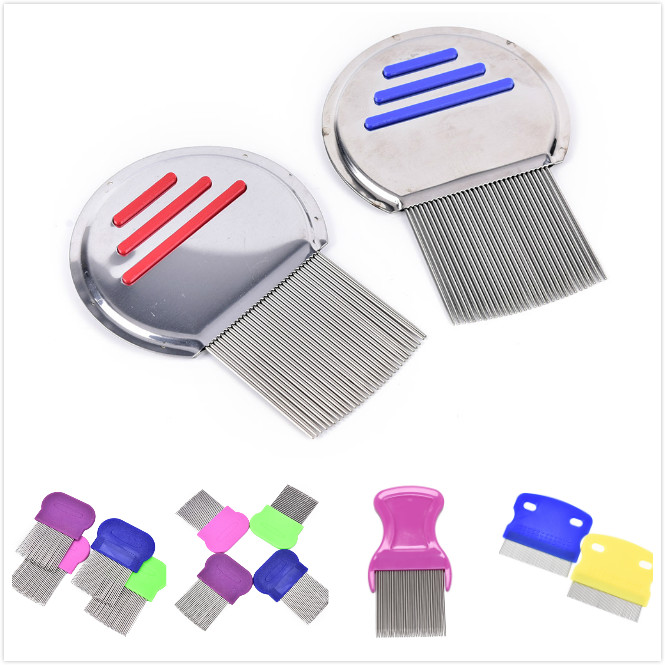 5Styles Stainless Steel Terminator Lice Comb Density Teeth Remove Nits Comb Nit Free Kids Hair Rid Headlice Super