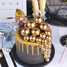10 sztuk piękny złoty srebrna kula ozdoba na wierzch tortu urodziny babeczka dekoracja Baby Shower dzieci urodziny prezent na przyjęcie weselne tanie i dobre opinie Byfa CN (pochodzenie) Cake Topper Metal Ślub i Zaręczyny Wielkie wydarzenie przyjęcie urodzinowe Na Chiński Nowy Rok