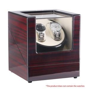 Image 2 - Boîte de rangement de montre en bois boîtier enrouleur de montre automatique Shaker couvercle Transparent boîte de montre bracelet moteur prise US