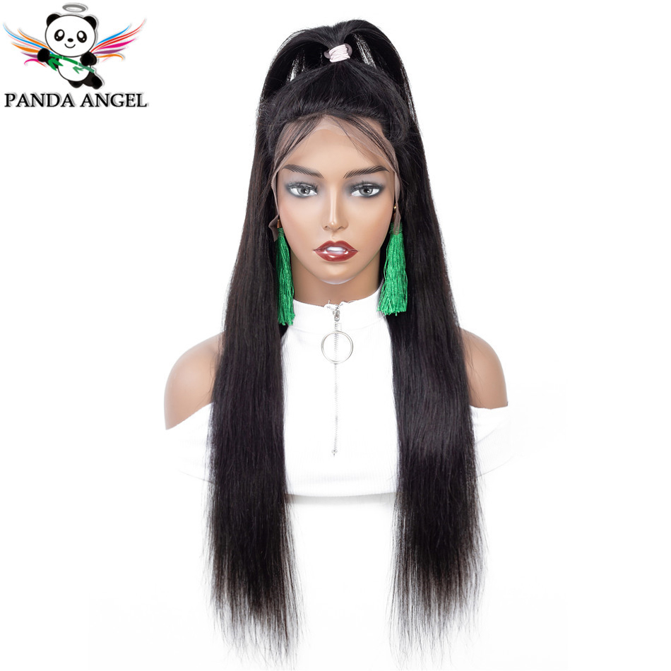 Panda 13x4 Lace Frontal Human Hair Wigs Natural Color 13x6 Straight Brazilian Hair Wig Pre Plucked Remy Hair For Black Women