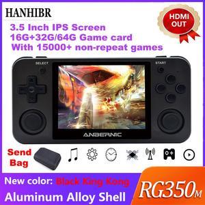 """Image 1 - Hanhibr RG350m linux os レトロゲームコンソールアルミ合金シェル 3.5 """"フルラミネーション ips スクリーン PS1 エミュレータ RG350 ゲームプレーヤー"""