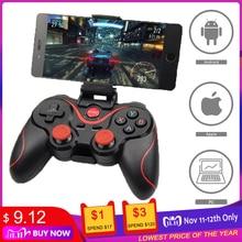 Terios T3 X3 gamepad sem fio, joystick Bluetooth BT3.0, controlador para celular e tablet, suporte de caixa de TV, no atacado