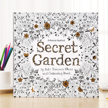 1PCS New Relieve Stress For Children Adult Painting Drawing Secret Garden English Edition Kill Time Coloring Book time explore chinese edition coloring book for children adult relieve stress kill time painting drawing book