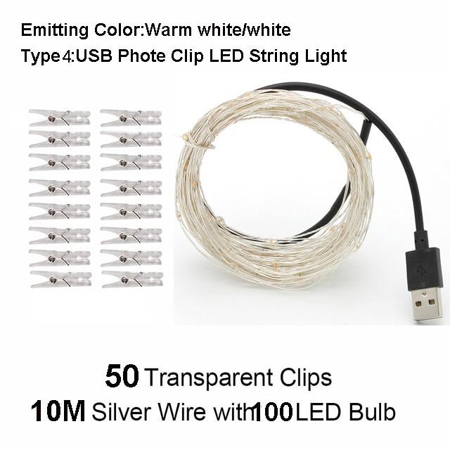 10M 100leds USB