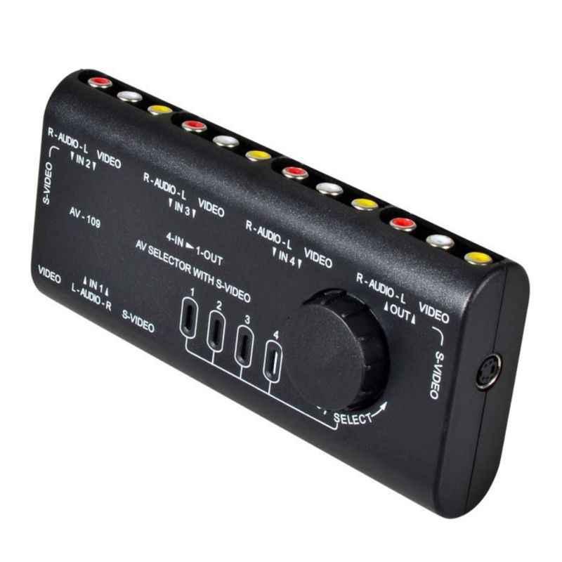 AV Переключатель 4 в 1 Out аудио видео конвертер переключатель делителя селектор коробка