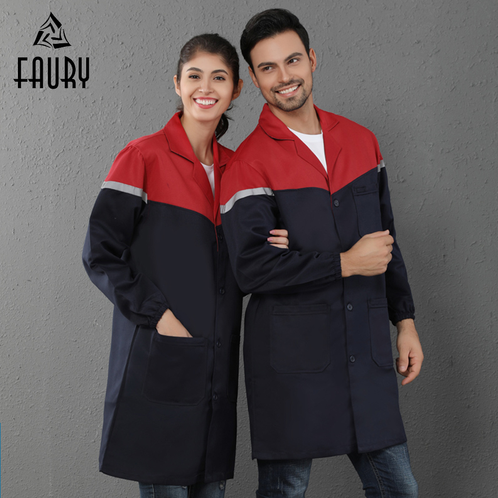 Medical Workshop Uniform Hospital Beauty Salon Dental Clinic Pharmacy Doctor Nurse Work Clothes Lab Coat Dust-proof Overalls