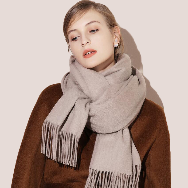 2020 Winter Scarf Solid Thicker Women Wool Cashmere Scarves Neck Head Warm Hijabs Pashmina Lady Shawls