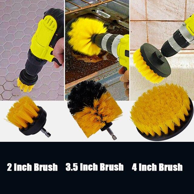 Brosse de nettoyage de voiture, ensemble de brosses de nettoyage pour l'intérieur et l'extérieur du cuir, nettoyage des bouches d'aération 5