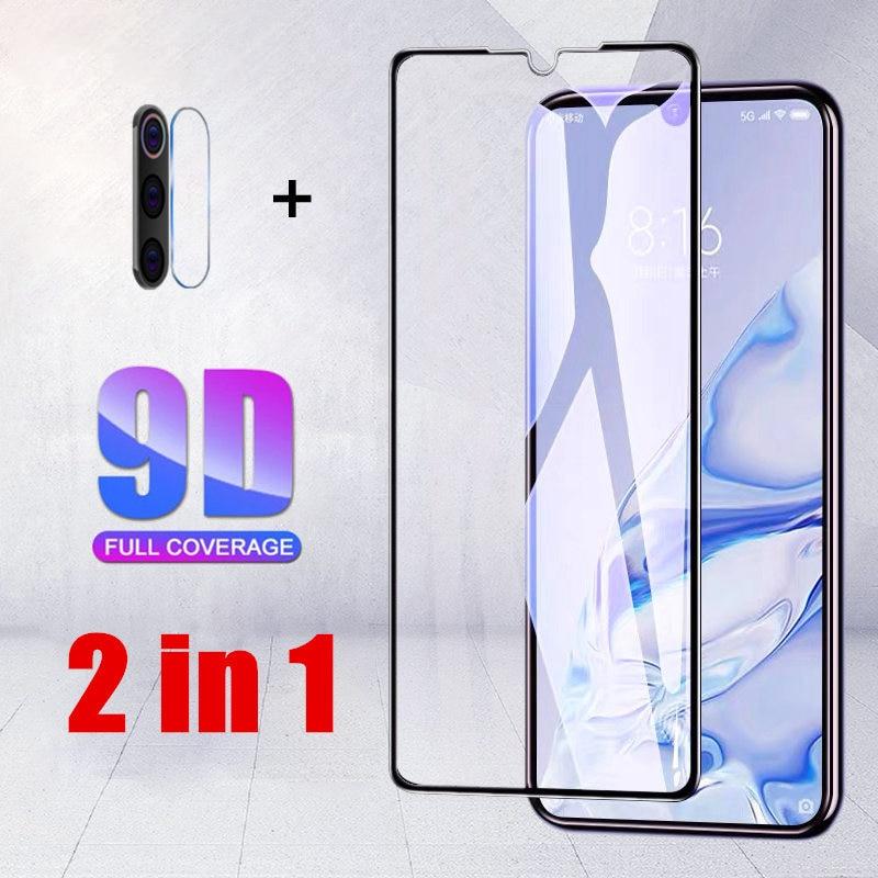 2 в 1 9D HD прозрачная пленка для Samsung Galaxy A01 A11 A71 A81 A91 защита для объектива задней камеры защита от царапин Закаленное стекло пленка