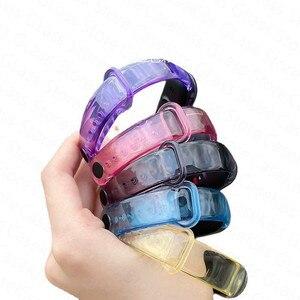 Image 3 - Nova pulseira para xiaomi mi banda 6 5 descoloração transparente silicone substituição pulseira para xiaomi miband 6 miband5 cinta