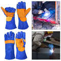 NICEYARD 1 paire 35 cm/40 cm gants de protection soudeur soudage jardinage cheminée BBQ cuir gants de soudage isolation thermique