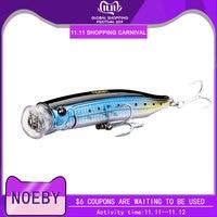 Noeby feed popper fishing lure plastik ABS 100mm 19.5g 120mm 29g 150mm 54.5g top woda do okonia morskiego 11 kolorów dostępne w Przynęty od Sport i rozrywka na