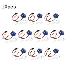 10Pcs 9G SG90 Micro Servo Motor for RC Robot Helicopter Airplane Aircraft Car Boat R7RB
