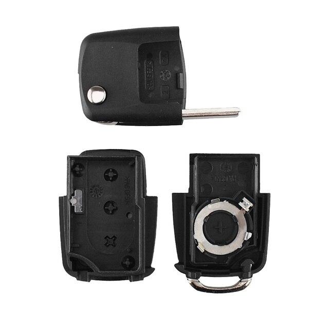 KEYYOU plegable de la llave del coche para Volkswagen Jetta Vw Golf Passat B5 B6 Beetle Polo Bora Caddy MK5 Skoda 3 carcasa botón de control remoto