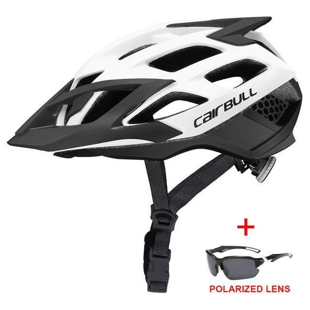 Mais novo trilha xc mtb capacete de bicicleta com óculos de sol ultraleve estrada da bicicleta de montanha capacete in-mold corrida ciclismo capacetes 3