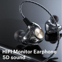 3,5mm Wired kopfhörer 5D Bass für Xiaomi Hybrid Pro Kolben 3 Transparent Sport Kopfhörer für Sony Redmi Hinweis 8 pro наушники
