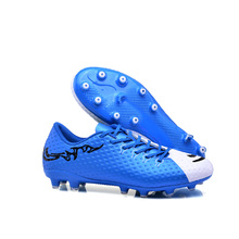 soccer shoes for men turf football boots child breathable cheap soccer cleats male football sneaker light mens soccer shoes Men Football Soccer Boots Athletic Soccer Shoes 2019 New Leather High Ankle Soccer Cleats Training Football Sneaker Futsa