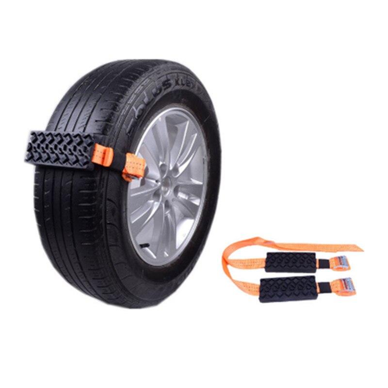 Correntes de neve da emergência da corrente da roda do pneu do não-deslizamento de 2 pces para o gelo/neve/lama/areia estrada segura para conduzir acessórios do carro do automóvel do caminhão suv