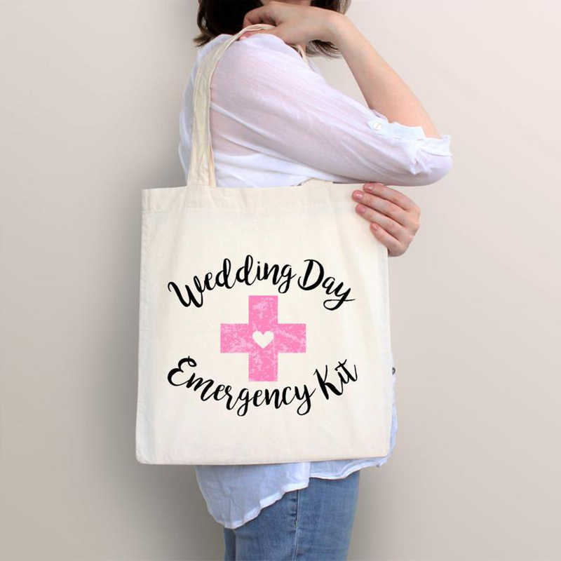 Wedding day Emergency Kit gift Bag Bridal Shower bachelorette hen Party bride to be Bridesmaid Team Bride tribe decoration favor