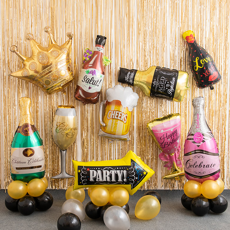 Cake Balloons Donuts Balloons Beer Bottles Balloons Foil Balloons Large For Children Adult Birthday Party Wedding Decoration