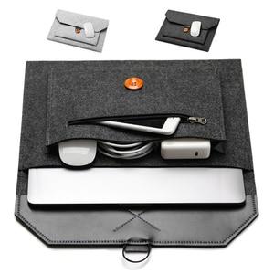 Image 2 - Funda de lana de fieltro para ordenador portátil, funda para Macbook Air Pro, Retina 11, 12, 13, 15, Lenovo, Asus, HP