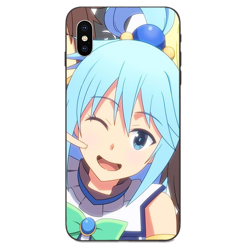 Anime Sexy Girl Aqua Konosuba For Apple iPhone 11 X XS Max XR Pro Max 4 4S 5 5S SE 6 6S 7 8 Plus TPU Print Phone