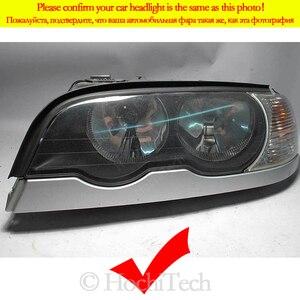 Image 2 - خاتم على شكل هالة DRLDTM U شكل ضوء أبيض كريستال عيون الملاك نمط لسيارات BMW 3 سلسلة E46 سيدان تجميل 01 05 مصباح هالوجين