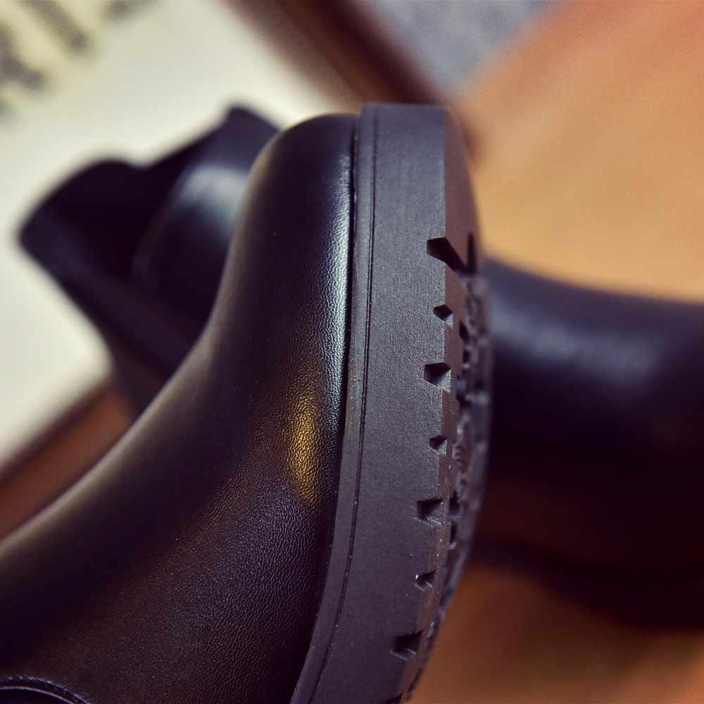 KANCOOLD Giày nữ 2019 Phẳng Bằng Da Giày người phụ nữ Gót giày nữ Giày Nữ Giày Nữ Botas Martin giày