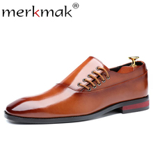 Merkmak Fashion Business Dress Men Shoes Classic Leather