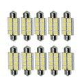 NHAUTP 10 шт. C5w Светодиодные гирлянды 41 мм 42 мм лампы 5050 8-SMD автомобильные номерные знаки освещение Интерьер лампа для чтения белый DC12V