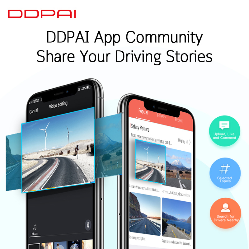 Global Version DDPai Mini3 Dash Cam DVR English Language 32GB 1600P HD Recording Camera 24H Parking Monitor Build in eMMC - 4