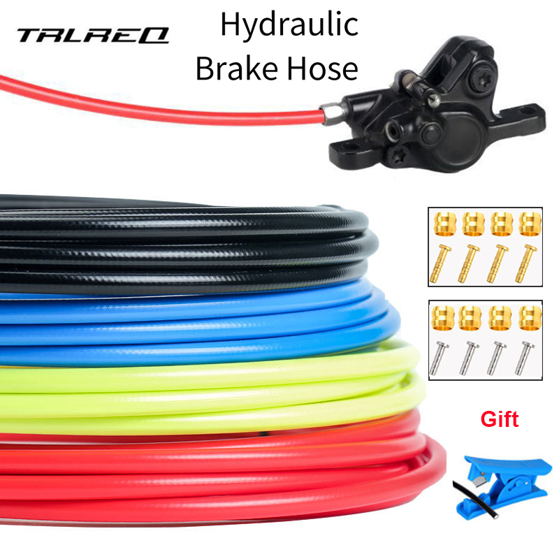 Mountain Bike Hydraulic Disc Brake Hose Oil Tube Pipe 5mm MTB Bicycle Brake Hosing Cable Set Kits BH59 / BH90 Connector 2.5M