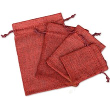 10pcs 9x12cm Natural Linen Double Drawstring Beam Port Pocket Household Gift Wrap Storage Bag Candy For Small Item