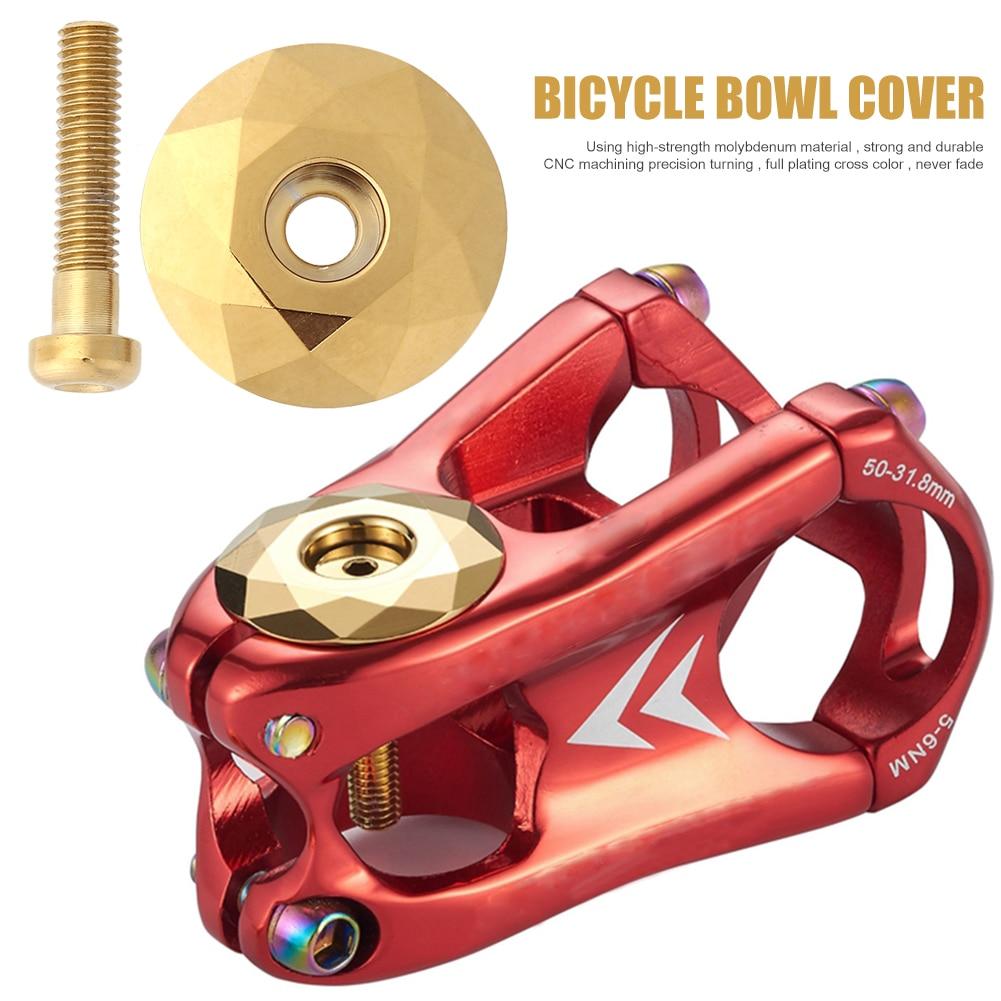 28.6mm vtt cyclisme casque tige haut bol couverture Steerer prise vtt fourche route vélo partie en alliage d'aluminium vélo fourche Tube capuchon