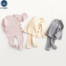 Baby Knitwear For Boys Girls Baby Girl Winter Clothes Baby Boy Sweater Sets Tops + Pants Pull Fille Newborn Outwears Sets 0-3Y