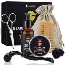 Scissor-Roller Grooming-Kit Mustache Hair-Growth-Oil Beard Balm Styling-Tool Moisturize-Wax
