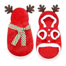Рождественская Одежда для собак теплый питомец пальто с шарфом