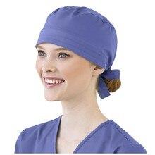 Women and Men Cotton Bandage Adjustable Scrub Cap Sweatband Bouffant Hat gorro enfermera quirofano