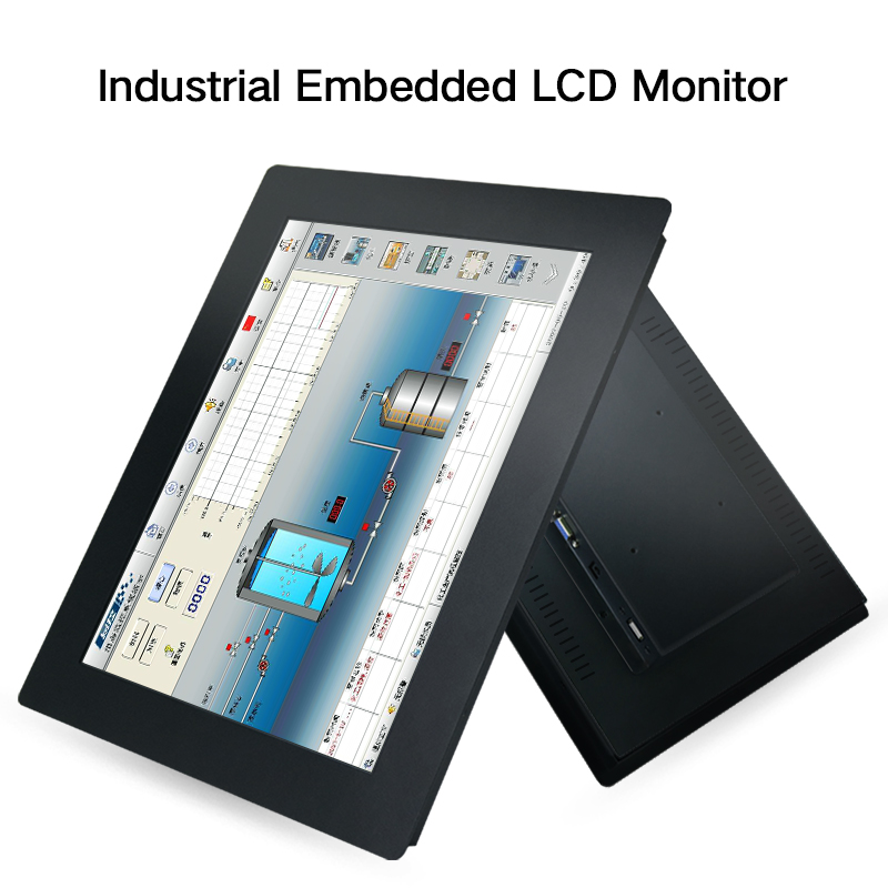 10 12 14 15 17 Inch Rugged Embedded Industrial No Touch Screen Panel PC With Win10 Linux