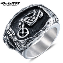 oulai777 signet-ring men tainless silver jewelry signet ring mens  punk finger fashion Hip hop gothic accesories