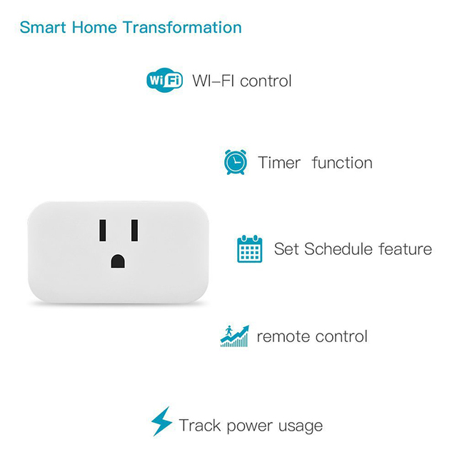 2pc Smart Socket Wifi Mobile Phone Timer Switch Socket Remote Control  Home US Regulation Family Intelligence System IOS Android
