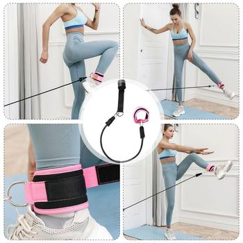 цена на Resistance band training legs buttocks fitness elastic band folded in half to increase ankle strap length