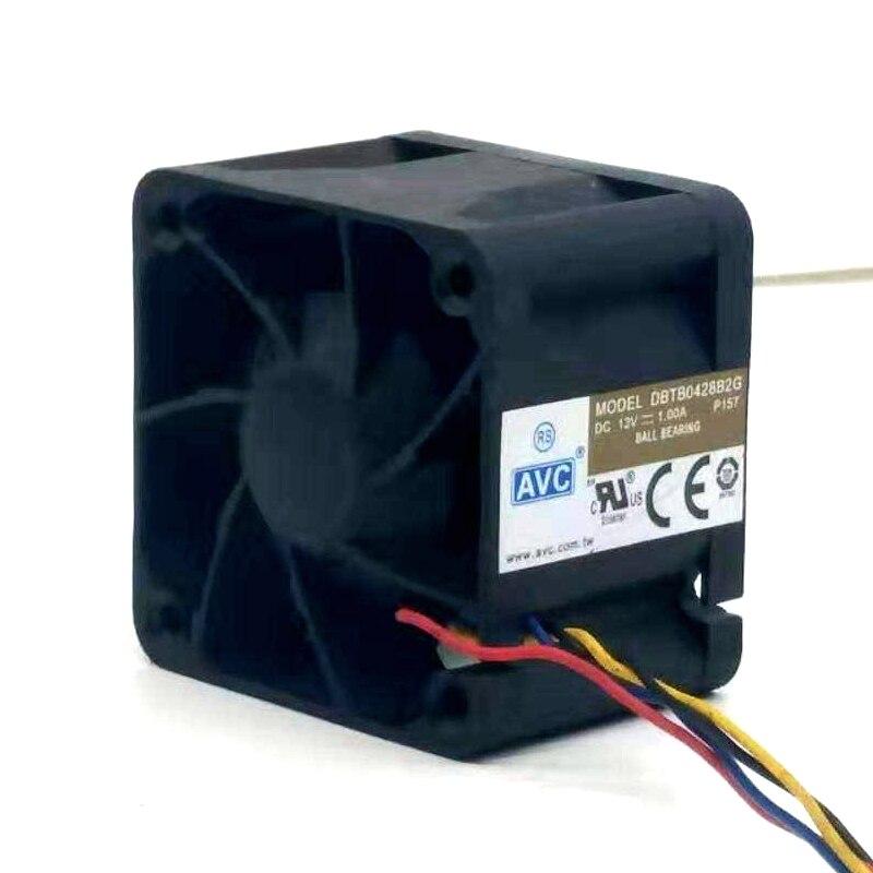 Мощный охлаждающий вентилятор для AVC 4028, 5 шт., 40 мм, 12 В, 1 А, высокоскоростные серверные вентиляторы DBTB0428B2G, двойной шариковый подшипник 40*40*28 м...